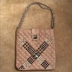BeBe Dusty pink embellished bag. New, never worn!